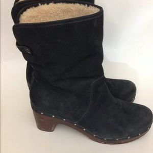 UGG Shearling and Leather Boots